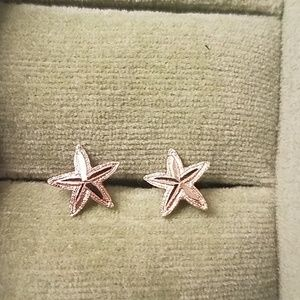 14k gold starfish earrings